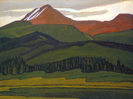"Lawren Harris ""Mountain Above Maligne Lake"" c.1924"