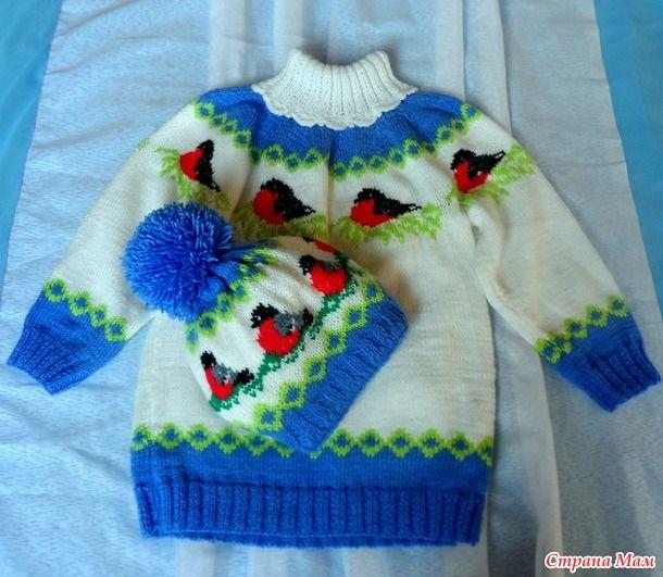 свитер  снегири
