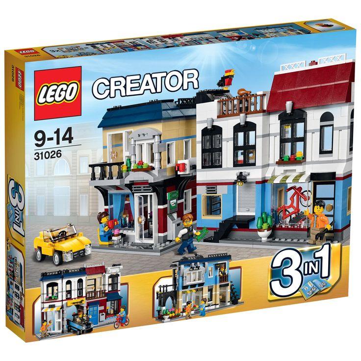 LEGO Creator Bike Shop & Cafe 31026 - £65.00 - Hamleys for Lego Creator Bike Shop Cafe 31026, Toys and Games