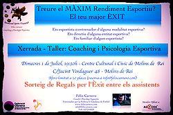 Charla-Taller en Molins de Rei Coaching y Psicología Deportiva