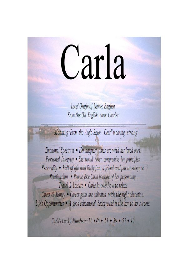 Best 55 carla ideas on pinterest names script fonts and tee shirt meaning of the english female name carla is strong urtaz Gallery
