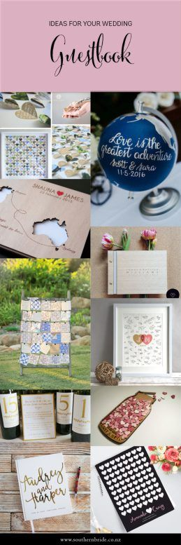 Looking for something unique for your guests to sign? Here's 25+ Wedding Guestbook Ideas at http://southernbride.co.nz/wedding-guestbook-ideas/