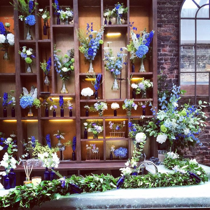 Beautiful flower display at NYR store.