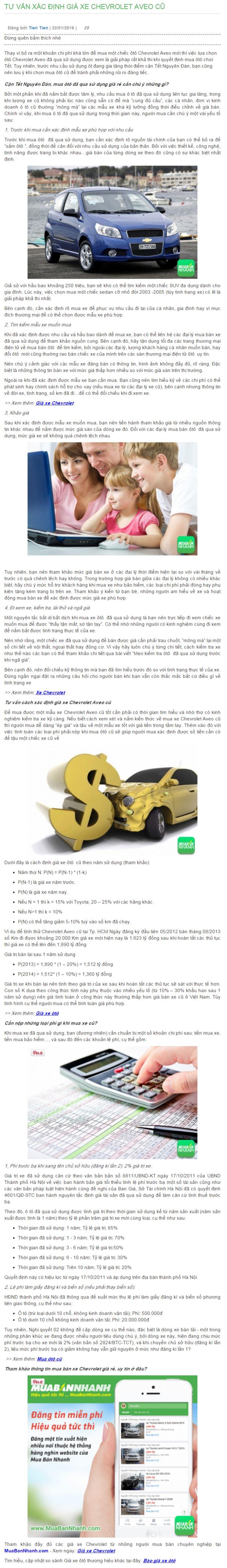 Tư vấn xác định giá xe Chevrolet Aveo cũ Tham khảo đầy đủ các giá xe Chevrolet từ những người mua bán chuyên nghiệp tại MuaBanNhanh.com: https://muabannhanh.com/tag/xe-oto-chevrolet