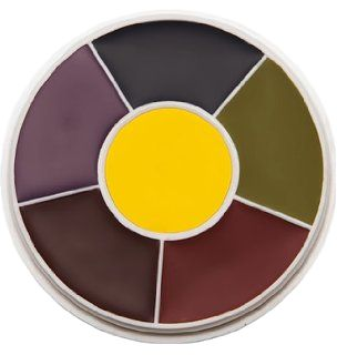 I love this wheel ~  The Ben Nye Master Bruise Wheel is the best wheel on the market for multiple makeup effects. The creme colors have very intense pigments that offer great coverage. The Master Bruise Wheel has 6 great
