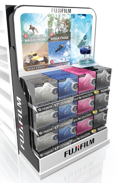 This is the Fuji Film End Cap which sits at the end of a Dick Smith gondola. You can play with the camera...very cool.