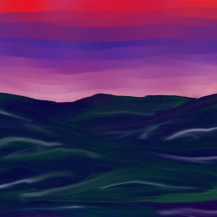 More digital art. Wacom tablet Rebelle software #impressionism #abstractart #digitalpainting