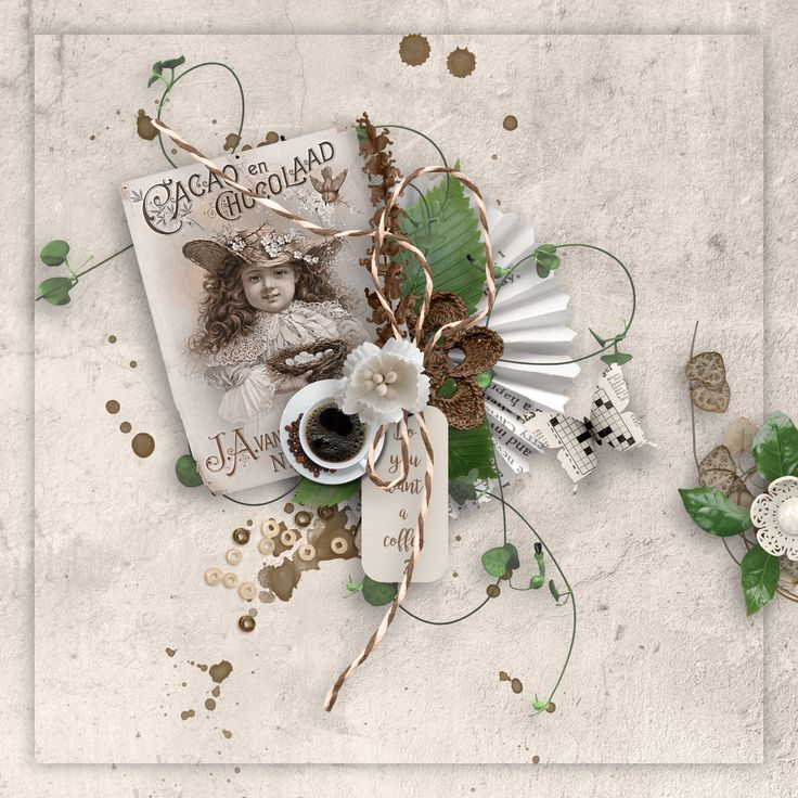 """Coffee break"" by Celinoa's Designs, http://digital-crea.fr/shop/index.php?main_page=product_info&cPath=155_332&products_id=26218,"
