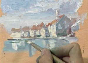 Learn how to paint landscape art using water-soluble oils for great oil painting tips and techniques that leave out the solvents.
