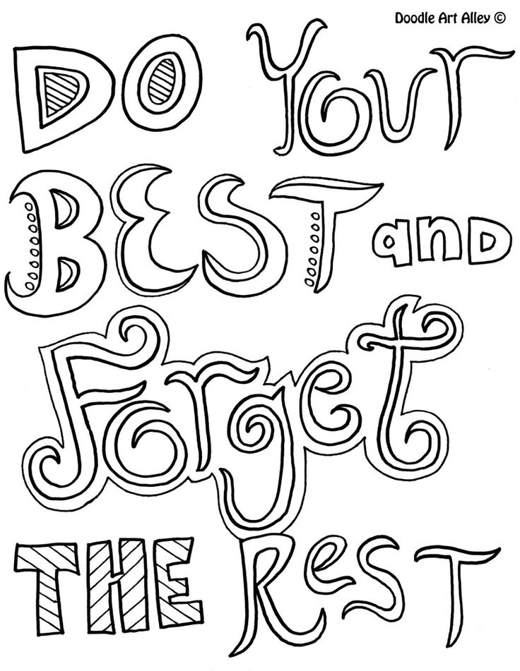 Doyourbest Quote Coloring PagesPrintable