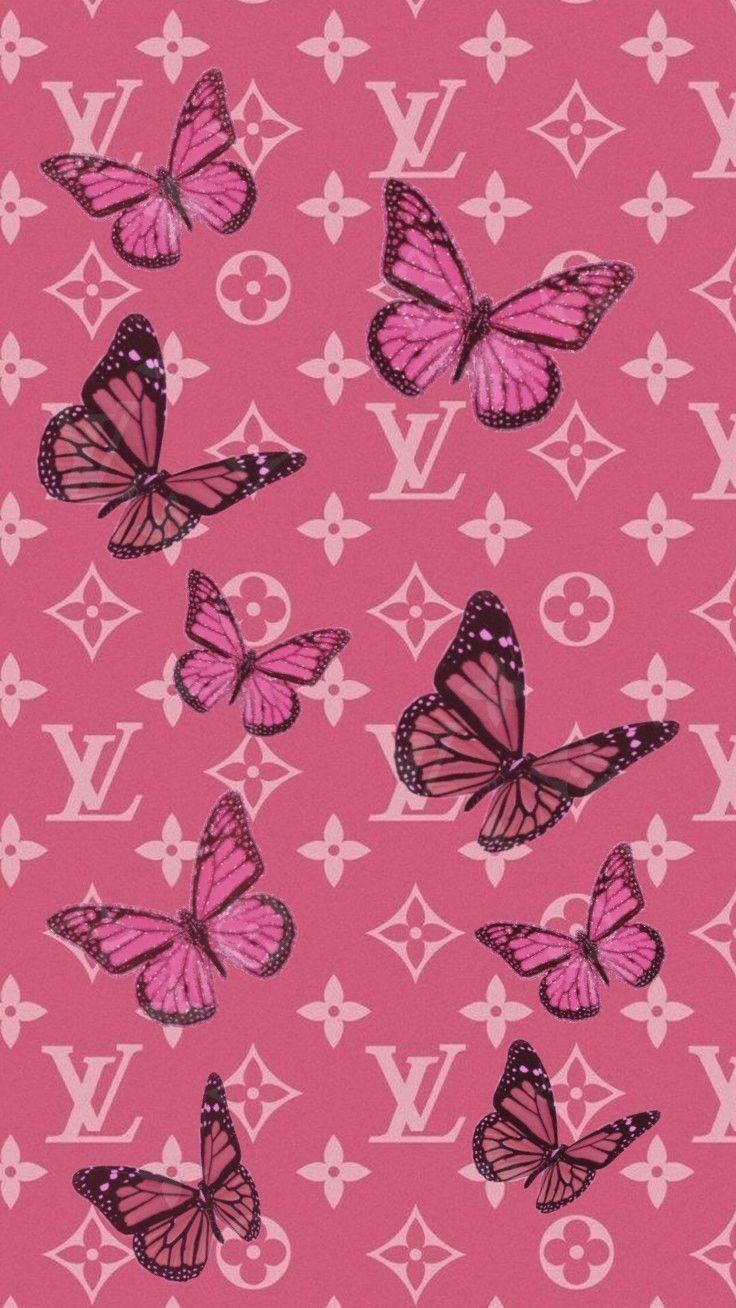 Y2k Y2kaesthetic Aestheticwallpapers Butterfly Pinkwallpaper Lv In 2020 In 2020 Butterfly Wallpaper Iphone Pink Wallpaper Iphone Butterfly Wallpaper