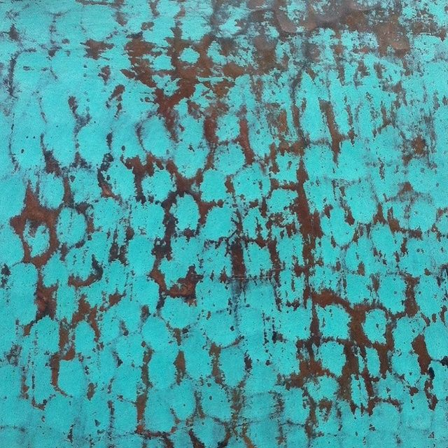 Copper Table Top Oxidized Green Color Finishing. #homeimprovement  #coppertable