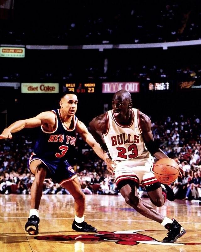Michael Jordan Chicago Bulls John Starks New York Knicks  e976f9d3debff