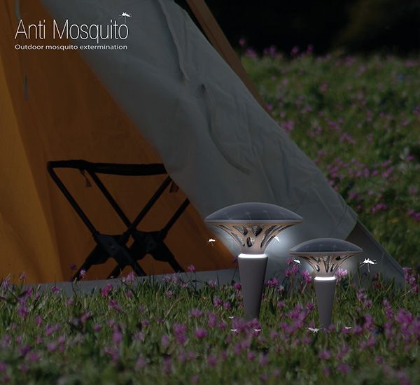 Anti Mosquito – Mosquito Repellent a mushroom design that can be placed around a tent or other outdoor area to keep mosquitos at bay. #mosquitos #YankoDesign