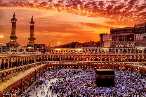 Mecca in the sunset