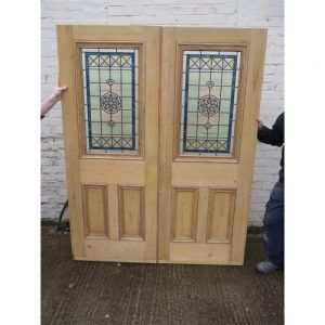 Stained Glass Internal Double Doors