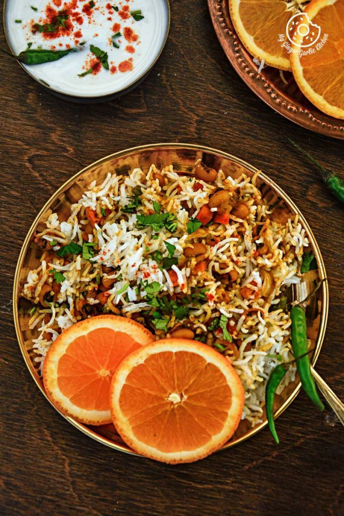 Black Eyed Bean Carrot Biryani #Glutenfree