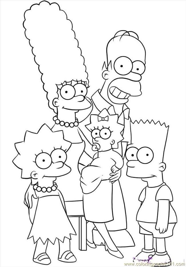 Bart Simpson Colouring Pages Free Family Coloring Pages Cartoon Coloring Pages Simpsons Drawings
