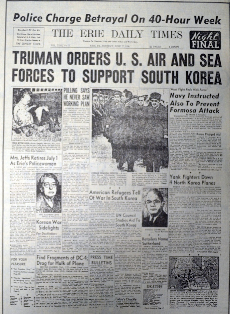 Image result for u.s. air and naval forces ordered by president truman in to the korean w ar