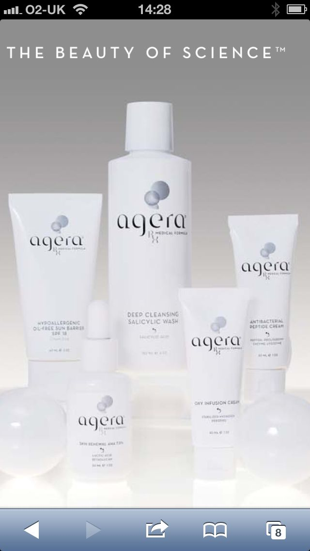www.spabannockburn.co.uk  Agera Skin Products are superb for encouraging proliferation of skin cells and aid recovery of the skin after skin peels.