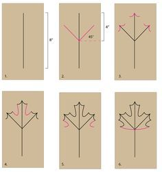 Draw a maple leaf, then color, paint and cut it out. Seasonal leaf projects -- or scientific leaf and plant drawings are valuable at any time of the year.