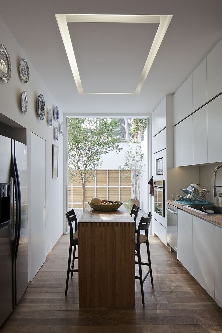 39 best lighting images on pinterest architecture home and live modern rectangular home with airy interior design chic and simple appearance of narrowed dining table set placed in one side kitchen center