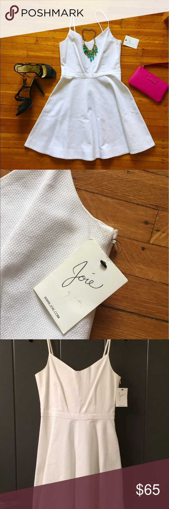 NWT WHite Joie Sundress Gorgeous white Joie dress. Perfect for the Derby, graduation, a wedding shower or rehearsal! Flattering flare fit. Measurements in photos. Joie Dresses