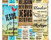 Items similar to Instant Download - CHRISTian JESUS Reigns (.875 x 1.875 inch slide) Images Digital Collage Sheet printable stickers on Etsy