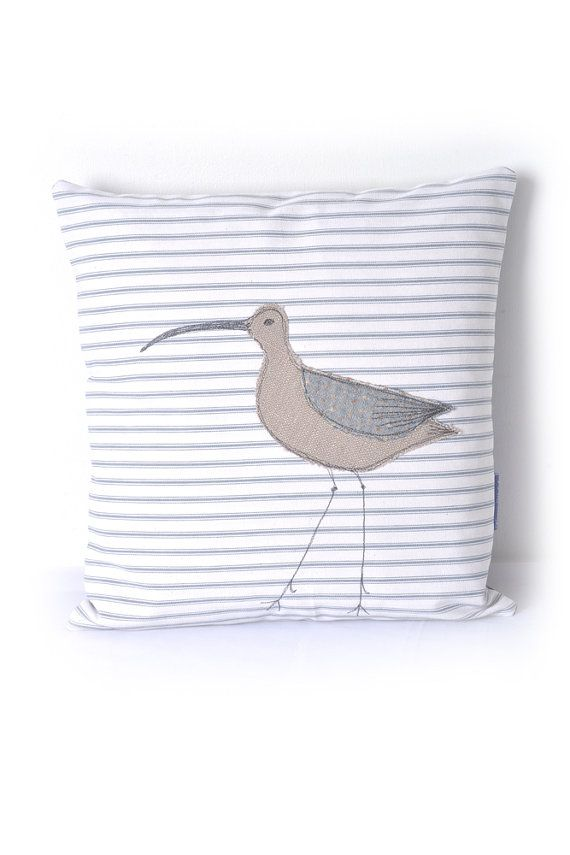 Applique Cushion Curlew