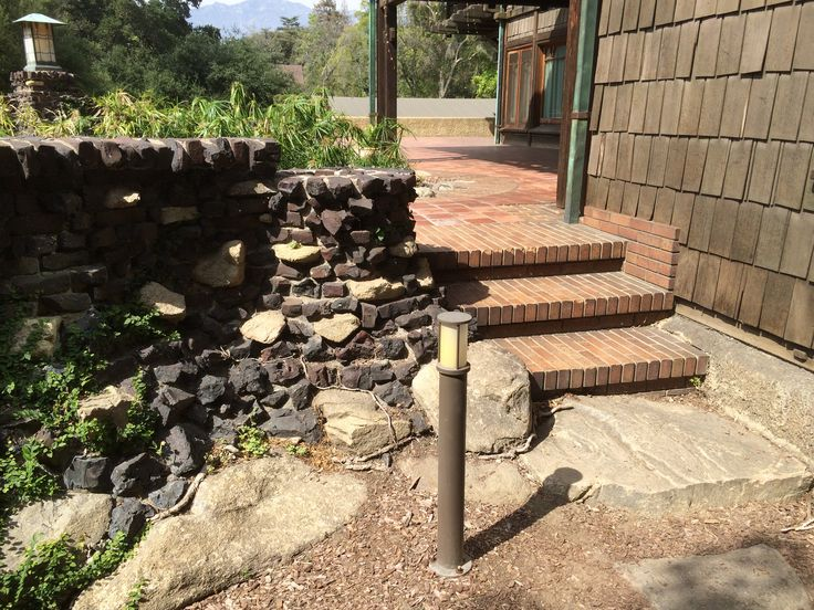 Amazing Gamble House   Back Brick Steps And Clinker Brick U0026 River Rock Wall Pictures
