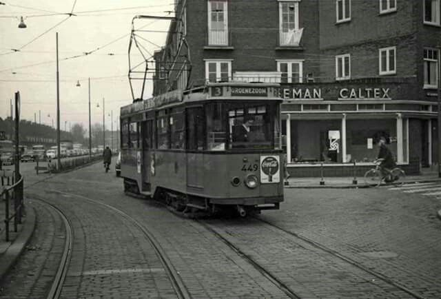 Strevelsweg - Rotterdam tramcar number 449 on route 3. Circa. late 1950s