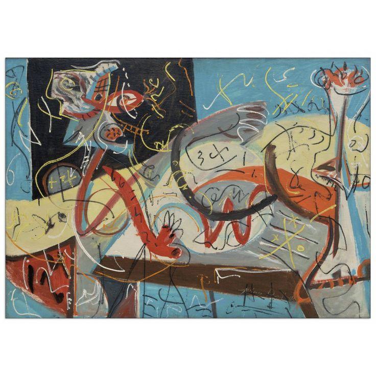 POLLOCK - Stenographic figure 80x57 cm #artprints #interior #design #Pollock  Scopri Descrizione e Prezzo http://www.artopweb.com/autori/jackson-pollock/EC21737