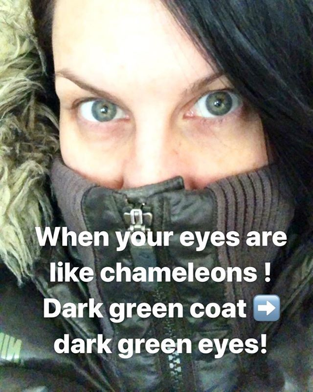 Chameleon eyes!  #eyes #morningselfie #nomakeup #nocontacts #greeneyes