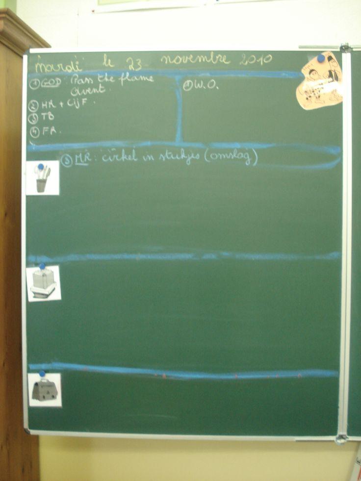 6de leerjaar  Dagschema en agendabord 2-in-1