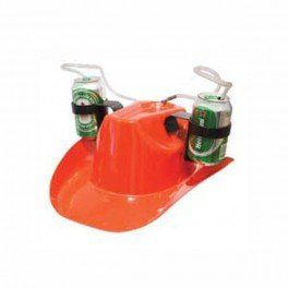 Idée #CadeauDeMerde # : Chapeau cowboy double porte canette / flexible paille