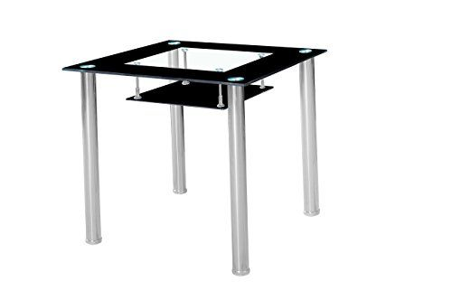 Black Small Glass Dining Table with Chrome Frame in 80 cm... https://www.amazon.co.uk/dp/B01L42JNLY/ref=cm_sw_r_pi_dp_x_Ewp-xb45CHF6F