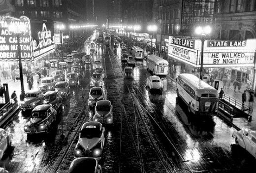 Stanley Kubrick's  photo of Chicago taken as photographer for Look magazine, 1949