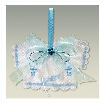 BABY SHOWER BLUE BOY SHIRT FAVOR BAGS W/ PACIFIERS @ $6.99