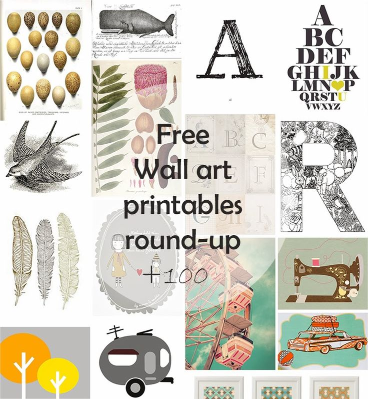 THE BEST round-up of free printable wall art on Ohoh Blog || diy and crafts: DIY Monday # Free Wall Art printables