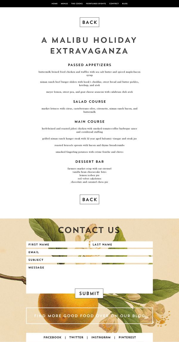 "Beautiful contact form, this is a gorgeous ""Contact Us"" page for a more feminine #webdesign"