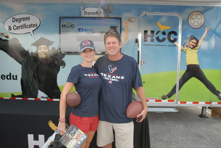 The Houston Texans are back, and as the education partner of the Texans, Houston Community College (HCC) participated in the August 2, 2013 Training Camp.