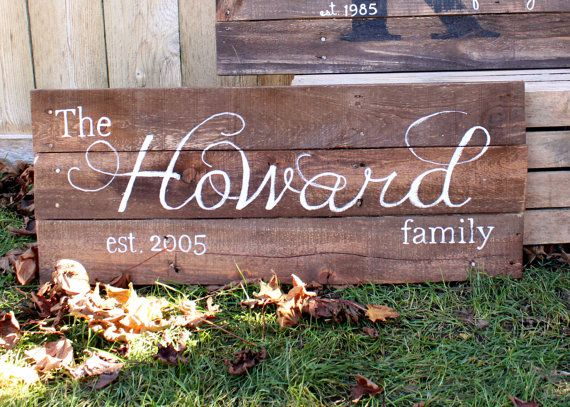 The custom designed family established sign is a neat way to for couples to display their anniversary or established date. I custom design each