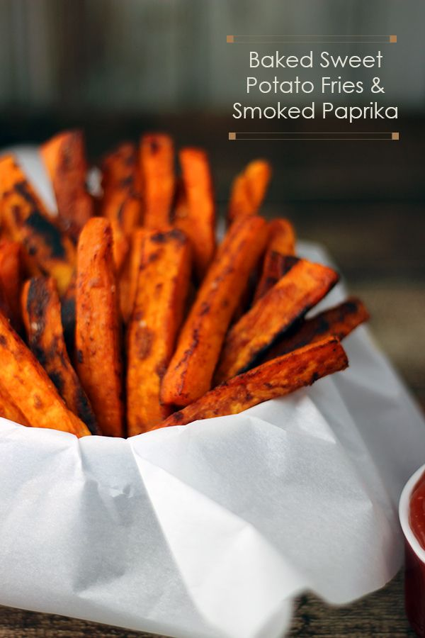 Baked sweet potatoes fries with smoked paprika recipe #food #paleo #glutenfree