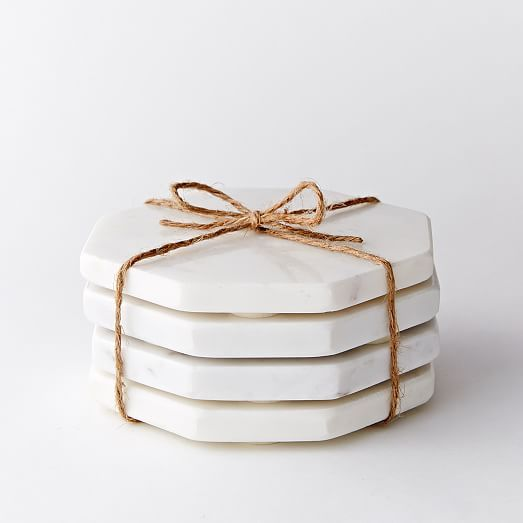 Stone Hexagonal Coasters (Set of 4) #westelm
