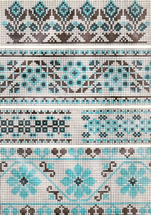 blue and black motive. this would be awesome in Petites Blendables Ocean Blue (4014)