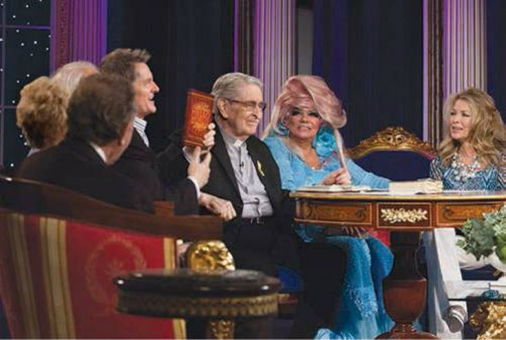 Jan Crouch is shown with Paul Crouch, other Crouch family members and TBN guests.