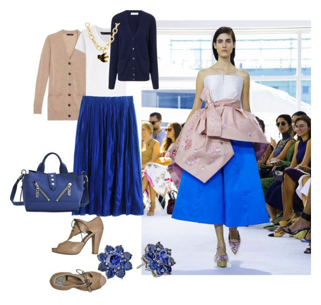 Blue Spring outfit by etere on Polyvore featuring мода, Ann Taylor, Equipment, Marc by Marc Jacobs, J.Crew, Malloni, Kenzo, Nina and Delpozo