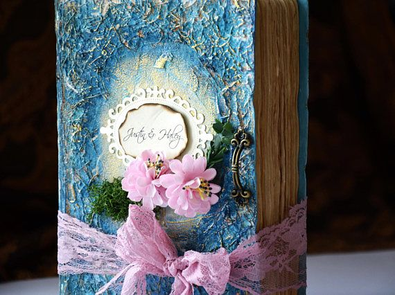personalized fairytale wedding Guest Bookwedding photo