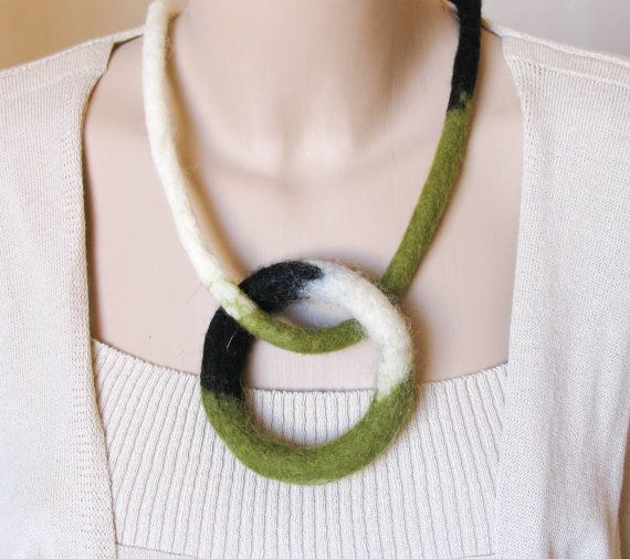 Hey, I found this really awesome Etsy listing at https://www.etsy.com/listing/193991279/felt-necklace-geometric-circle-necklace