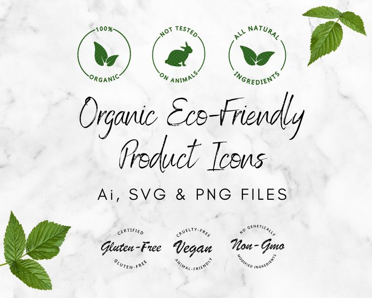 Organic Eco Friendly Product Vector Label Icons Bundle Ai Svg Etsy In 2020 Organic Eco Labels